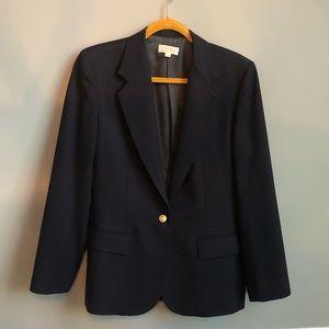 Brooks Brothers one-button Navy Blue Blazer
